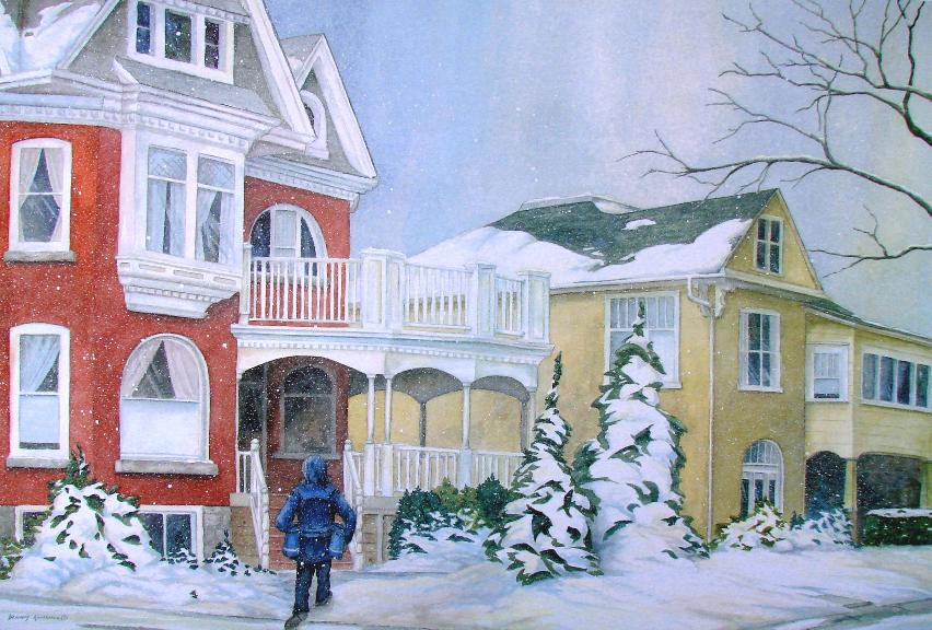 Snowy Deliver - End Of An Era painting by Dennis Kalichuk